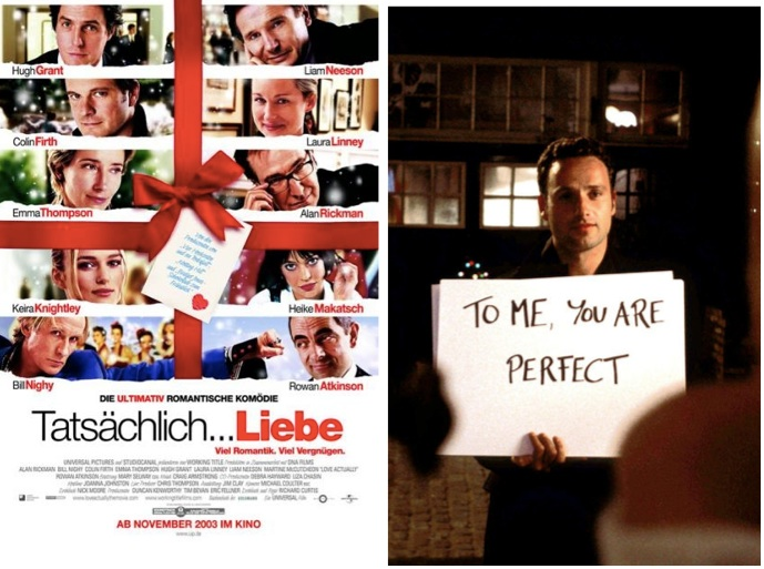 Weihnachtsfilme Tips Must see Liste Love actually