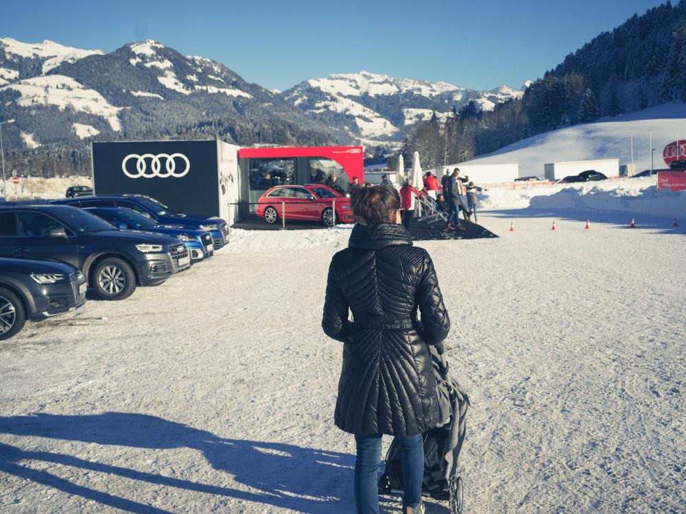 echt!hartmann in Kitzbühel mit vielen Audis für das Hahnenkamm-Rennen