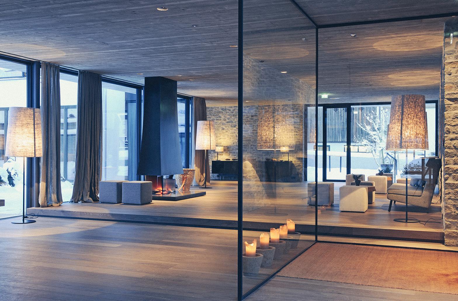Empfangsbereich des Design Hotel Wiesergut