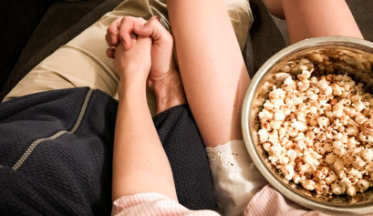Movie Night Filme Filmeabend Popcorn Paar