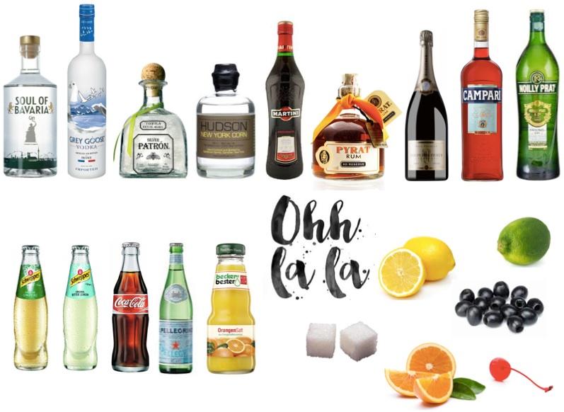 Getränke Hausbar Grundausstattung