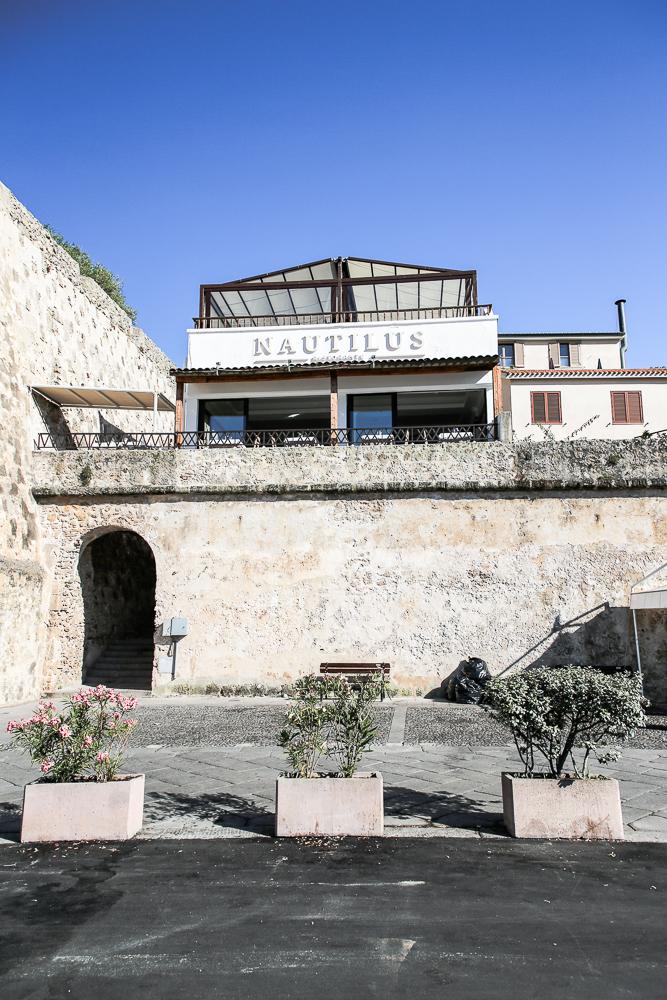 Restaurant Nautilus, Alghero, Sardinien von vorne