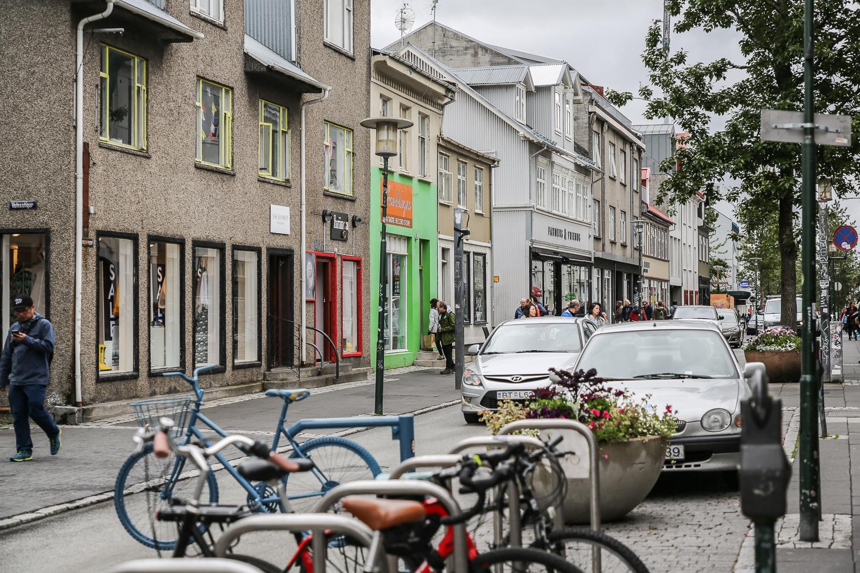 Reykjavik Innenstadt city einkaufen