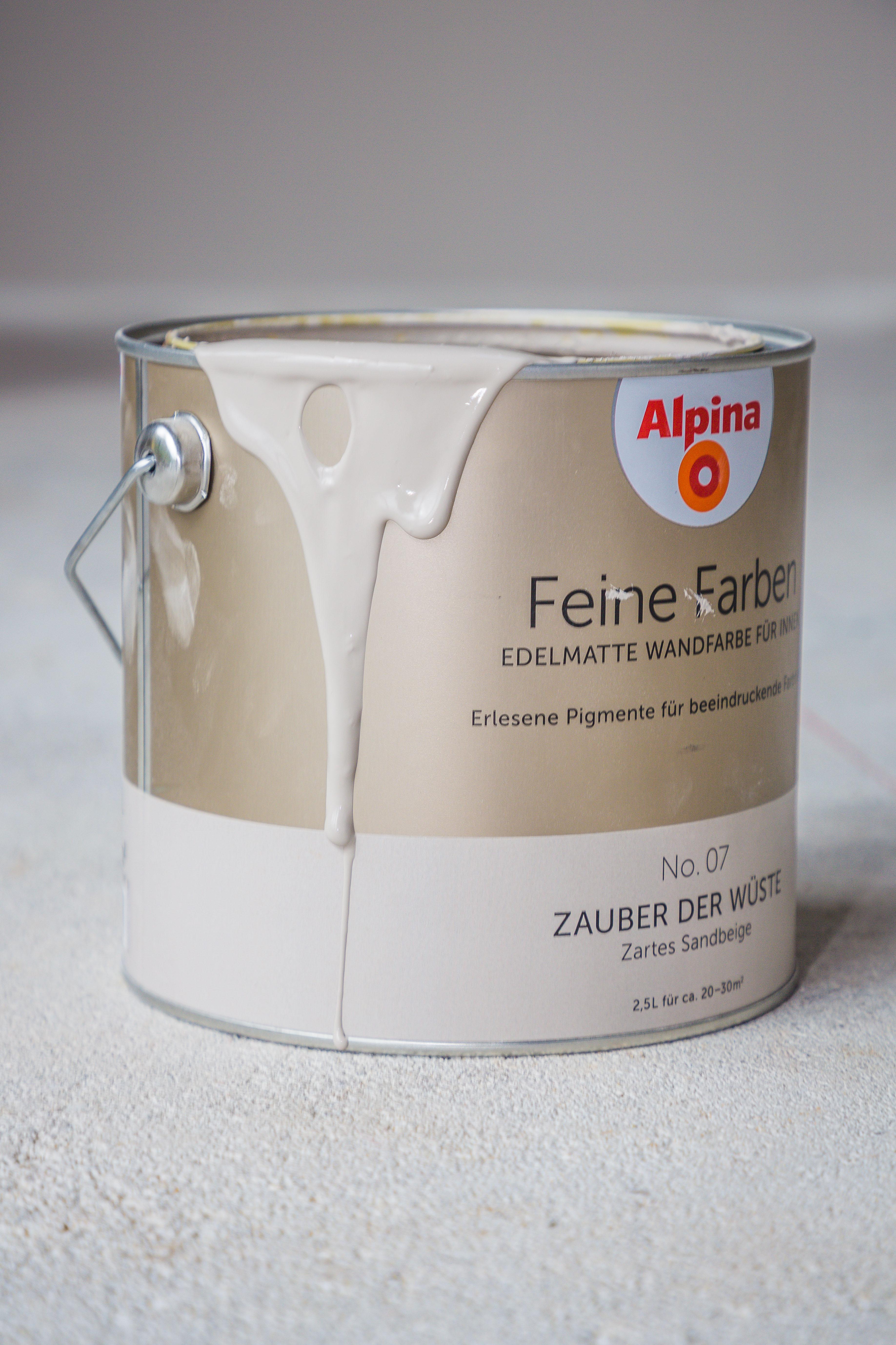 Alpina Feine Farben Farbeimer Zauber der Wüste beige hell creme